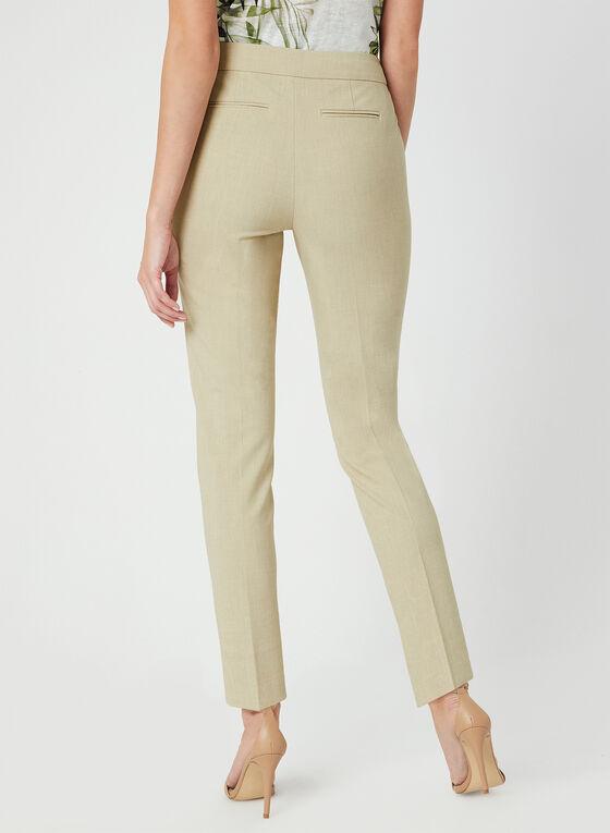 Pantalon coupe cité à jambe étroite , Blanc cassé