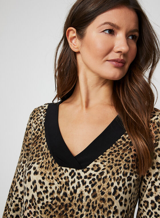 Leopard Print Nightgown, Brown