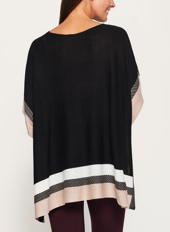 Lightweight Colour Block Poncho, , hi-res