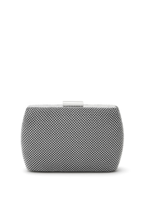 Ball Mesh Minaudiere, Grey, hi-res