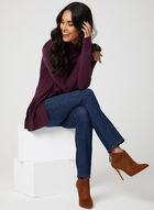 Long Sleeve Open Front Cardigan, Purple, hi-res