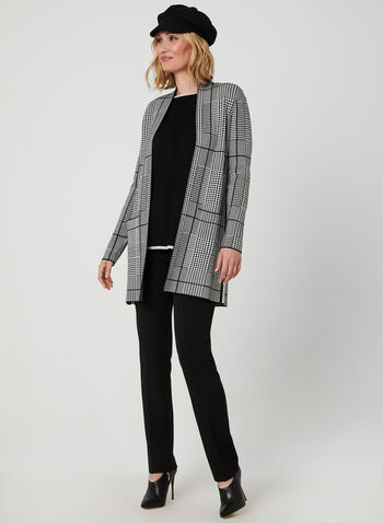 Contrast Trim Sweater, Grey,  ¾ sleeves, 3/4 sleeves, studs, metallic, knit, boat neck, fall 2019, winter 2019