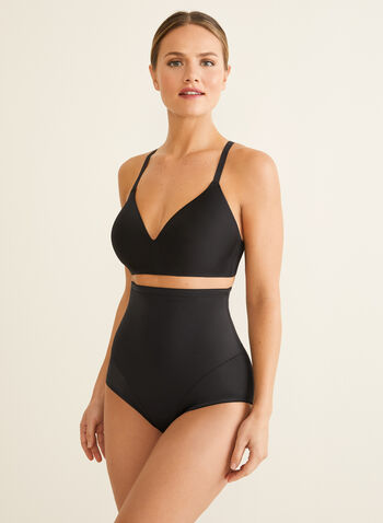 Naomi & Nicole - High-Waist Shaping Briefs, Black,  shapewear, brief, high-waist, wonderful edge, back magic, sculpting