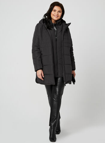 Northside - Hooded Quilted Coat, Grey, hi-res,