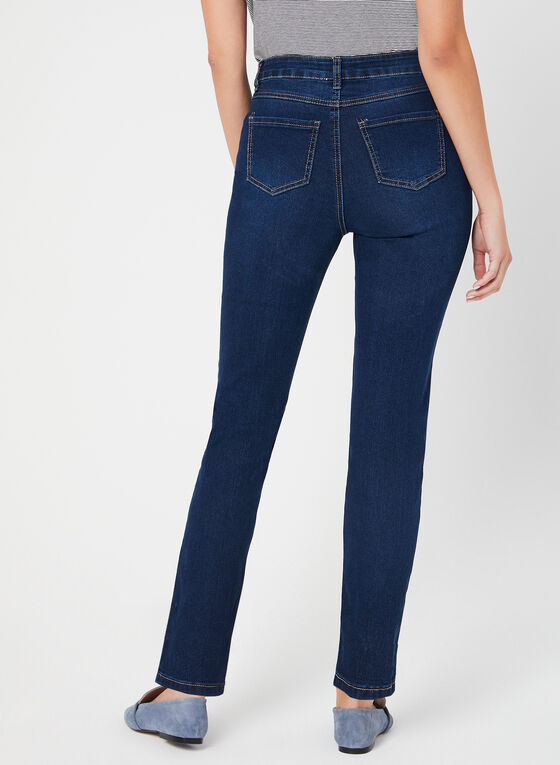 GG Jeans - Jean coupe moderne à strass, Bleu