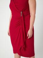 Sleeveless Jersey Midi Dress, Red