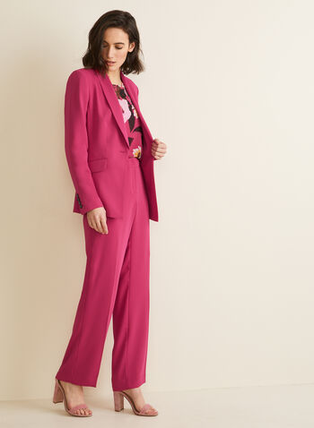 Modern Fit Wide Leg Pants, Pink,  pants, modern fit, wide leg, spring summer 2020