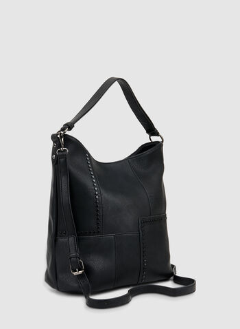 Patchwork Hobo Bag, Black,  fall winter 2019, hobo bag, hand bag