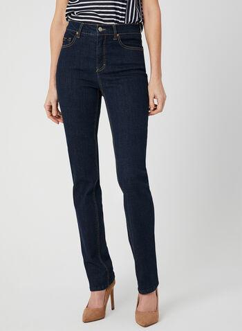 Simon Chang - Signature Fit Straight Leg Jeans, Blue, hi-res,  denim, stretch, spring 2019