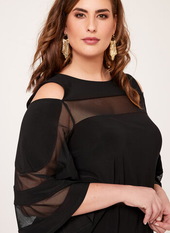 Frank Lyman - Bell Sleeve Cold Shoulder Blouse, Black, hi-res