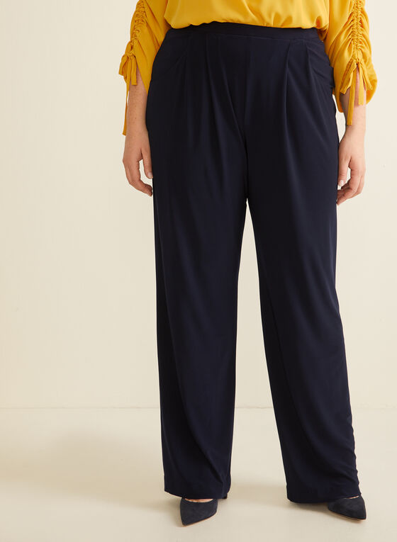 Joseph Ribkoff - Pull-On Wide Leg Pants, Blue