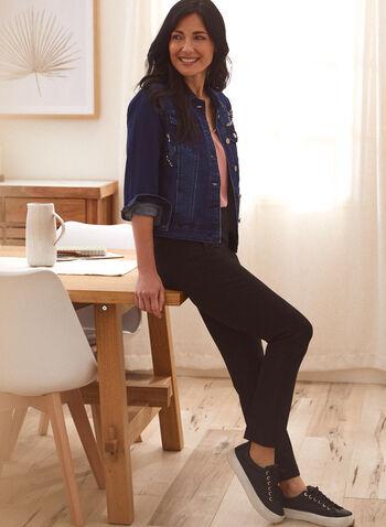 Zip Detail Pants, Black,  fall winter 2021, bottoms, pants, straight leg, signature, pocketed, faux pockets, zipper