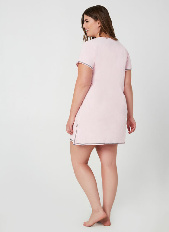 René Rofé - Short Sleeve Nightgown, Pink, hi-res