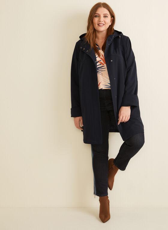 Hooded Raincoat, Blue