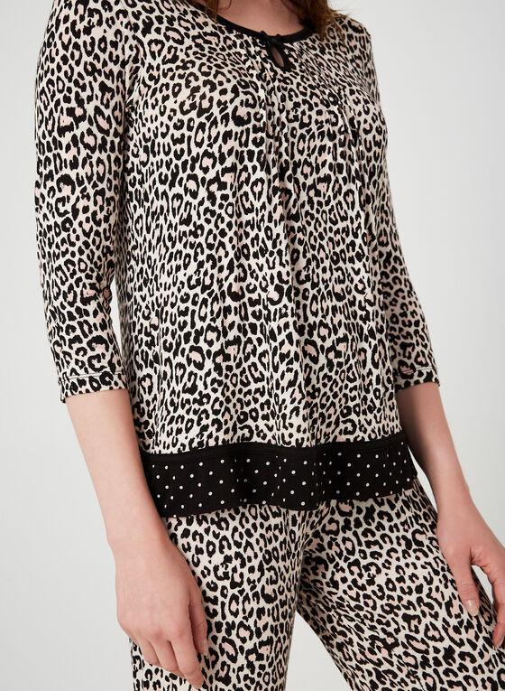 René Rofé - Pyjama 2 pièces léopard, Brun
