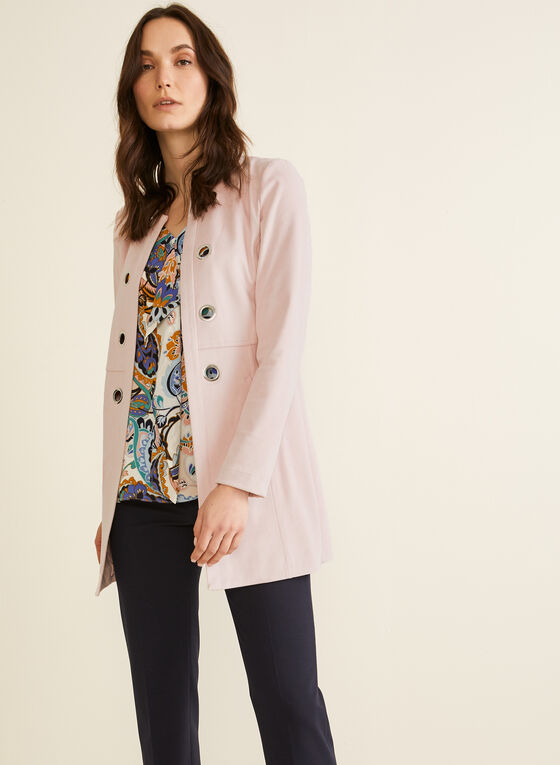 Faux Suede Duster, Pink