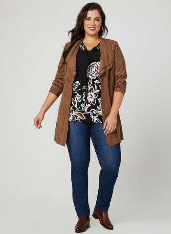 Floral Print Bell Sleeve Tunic, Multi, hi-res