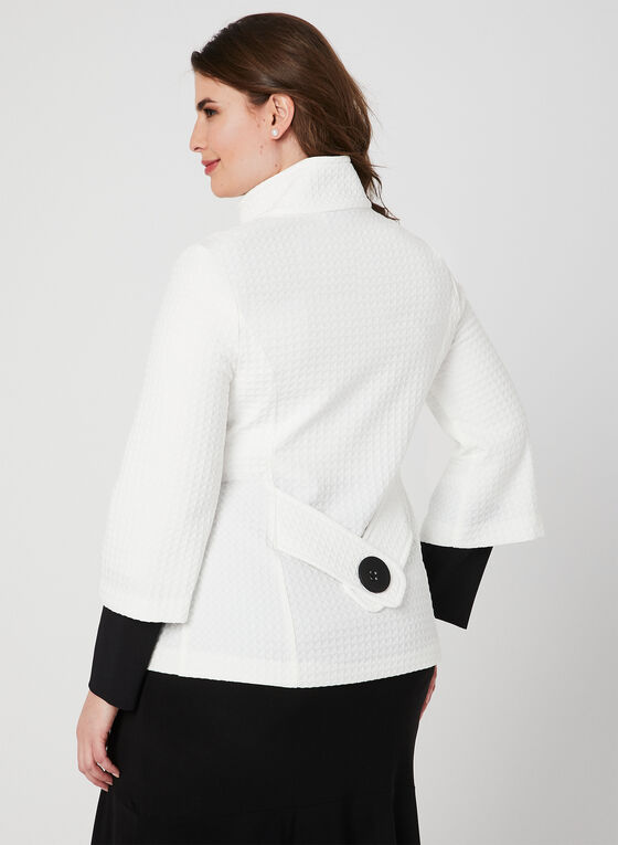 Joseph Ribkoff - Cropped A-Line Jacket, Black, hi-res