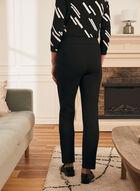 Pantalon coupe cité à taille élastique, Noir