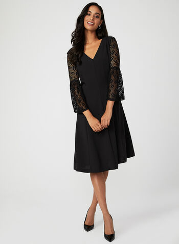 Bell Sleeve Lace Bolero , Black, hi-res