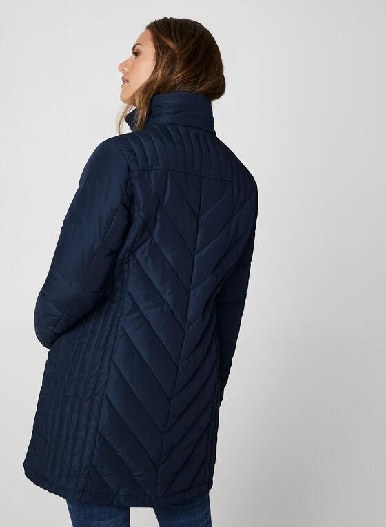 Faux Fur Down Coat, Blue