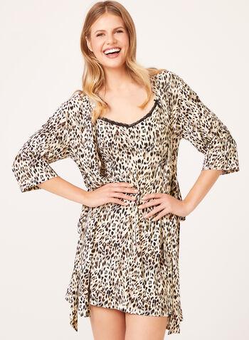René Rofé - Leopard Print Nightgown & Kimono , , hi-res