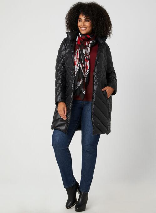 BCBGeneration - Packable Down Quilt Coat, Black