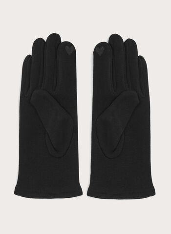Touchscreen Knit Gloves, Black, hi-res