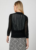 Lace Up Detail Cardigan, Black, hi-res