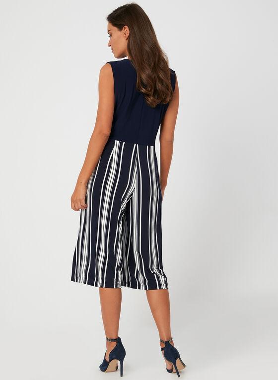Stripe Print Jumpsuit, Blue, hi-res