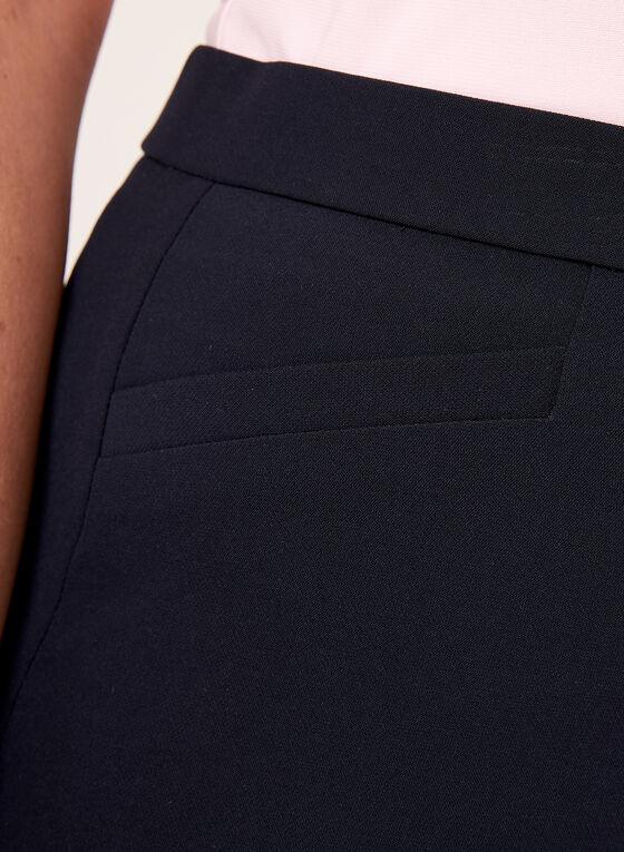 Pantalon coupe signature effet ventre plat, Bleu