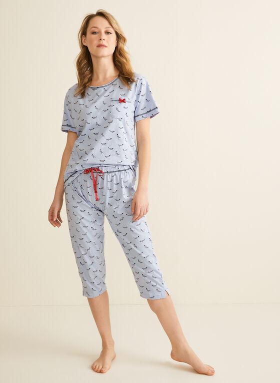 Karmilla Lingerie - Dog Motif Pyjama Set, Red