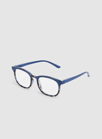 Marble Frame Glasses, Blue,  glasses, marble, plastic, fall 2019, winter 2019
