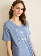 Comfort & Co. - T-Shirt & Capri Pyjama Set, Blue