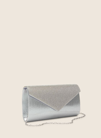 Metallic Envelope Clutch, Silver,  clutch, evening clutch, metallic clutch, spring 2020, summer 2020, crystals