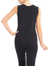 Scoop Neck Basic Tank, Black, hi-res