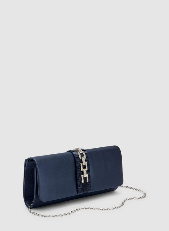 Flap Evening Clutch, Blue