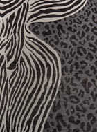 Animal Print Square Scarf, Black, hi-res