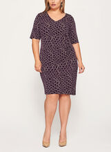 Side Tuck Jersey Dress, Purple, hi-res