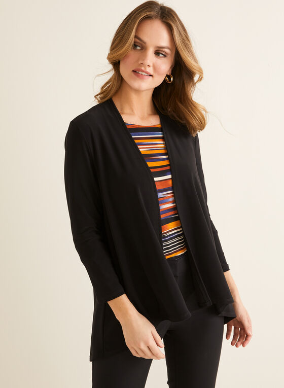 High Low Open Front Top, Black