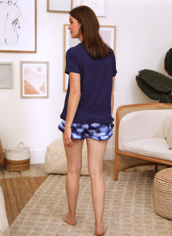 Printed Pyjama Set, Blue
