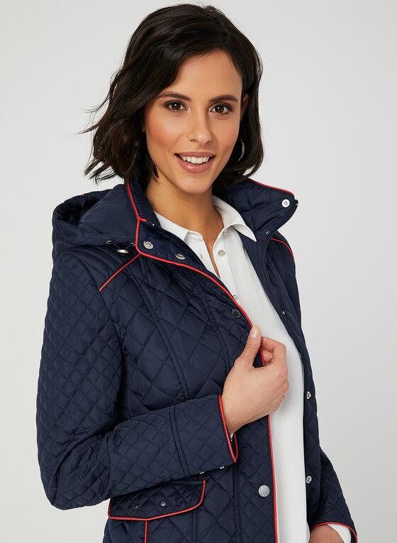Novelti - Manteau matelassé à coutures contrastantes, Bleu