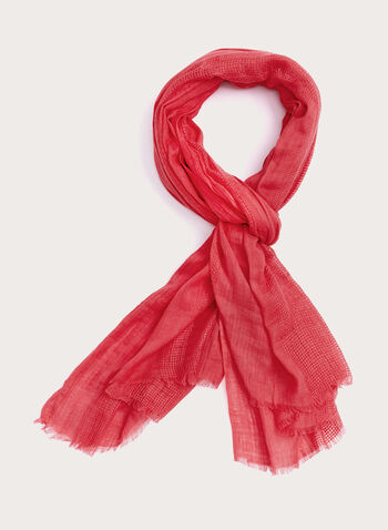 Crinkled Solid Colour Wrap, Red, hi-res