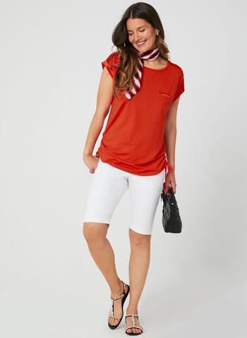Modern Fit Shorts, White, hi-res,  shorts, walking shorts, Bermuda, 5-pocket style, Modern Fit, spring 2019, summer 2019