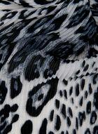 Foulard léger animalier à effet plissé, Gris, hi-res