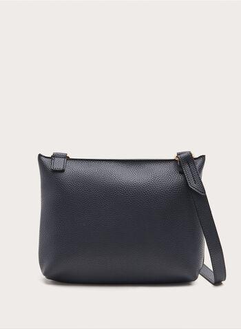Front Flap Cossbody Bag, Blue, hi-res