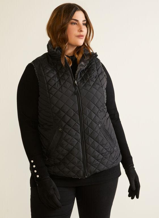 Weatherproof - Reversible Quilted Vest, Black