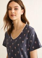 Claudel Lingerie - Printed Nightshirt, Grey