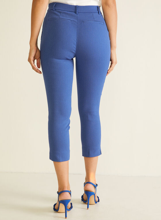Jules & Leopold - Dotted Print Pull-On Capris, Blue