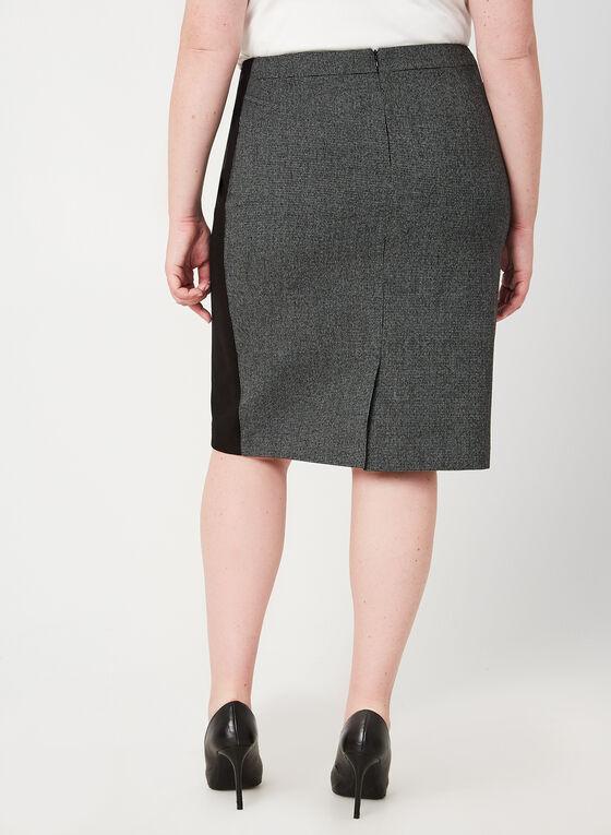 Heather Houndstooth Print Skirt, Black
